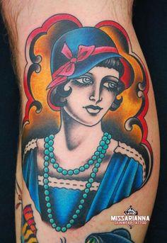 1920s Flappers tattoos | Found on tattoos.cherriedragon.com