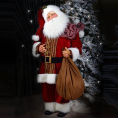 The Kurt Adler 72 IN Red Elegant Santa is a life-like Santa Christmas decoration designed by Jacqueline Kent. Buy this Elegant Santa at House of Holiday. Cute Christmas Cards, Father Christmas, Christmas Time, Christmas Ideas, Christmas Things, Holiday, Santa Claus Figure, Santa Clause, Santa Wreath