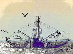 'Der Granat-Fischer' von Dirk h. Wendt bei artflakes.com als Poster oder Kunstdruck $18.03