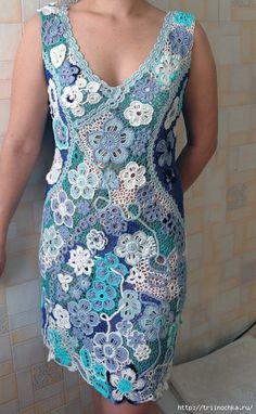 Красивое летнее платье в стиле ирландских мотивов!
