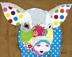 ANIMAL ART Canvas Print of Pig I