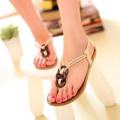 ENMAYER women sandals 2014 NEW arrive flats summer flat students sexy  casual Household shoes ladies beach 35b53be52