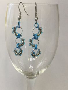 Check out this item in my Etsy shop https://www.etsy.com/ca/listing/473656876/aquacopper-chainmaille-earrings
