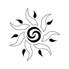 TATTOO TRIBES - Shape your dreams, Tattoos with meaning - sun, unity, fertility, courage, borneo star