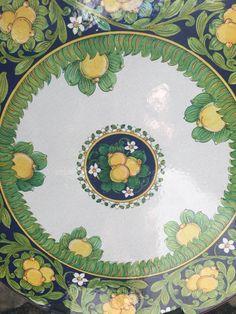 Painted ceramics in Revello, Amalfi Coast of Italy