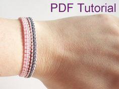 PDF Tutorial Square Knot Macrame Bracelet by purplewyvernjewels Macrame Bracelet Patterns, Macrame Bracelet Tutorial, Macrame Bracelets, Bracelet Designs, Square Knot Bracelets, Thread Bracelets, Wish Bracelets, Overhand Knot, Pride Bracelet