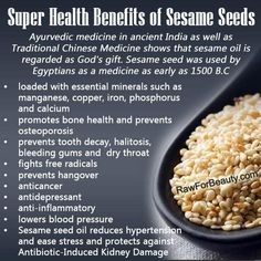 How I love to eat Benni seeds as snack not knowing all the amazing benefits💚. Super Health Benefits of Sesame Seeds. Food for Health Natural Cures, Natural Health, Natural Hair, Natural Foods, Ayurveda, Ayurvedic Herbs, Healing Herbs, Health And Nutrition, Health And Wellness