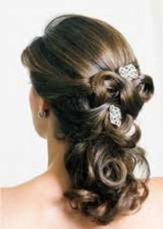 bridesmaid hairstyles half up half down with curls - Google Search