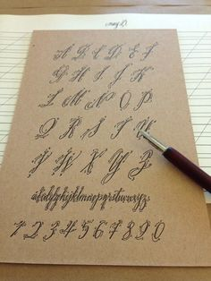 From the Design Desk: Calligraphy and Cocktails