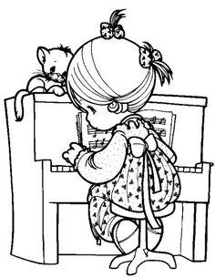 Картинки по запросу играет на пианино рисунок