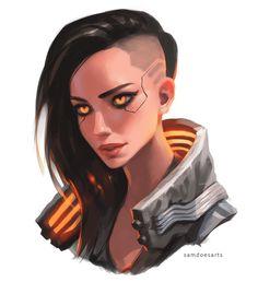 Cyberpunk 2077, Character Concept, Character Art, Concept Art, Character Design, Black Anime Characters, Sci Fi Characters, Cyberpunk Character, Manga Anime