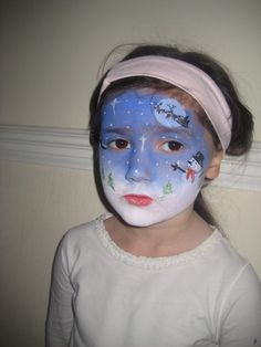 Christmas scene Face Painting