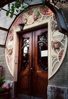 Rose door-- art nouveau