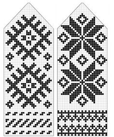 pattern for mittens Knitted Mittens Pattern, Crochet Mittens, Knitted Gloves, Knitting Charts, Knitting Socks, Hand Knitting, Knitting Patterns, Fair Isle Knitting, Tapestry Crochet
