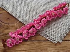 Cherry Blossom Beaded Bracelet for Women Pink by TreasuresOfMySoul