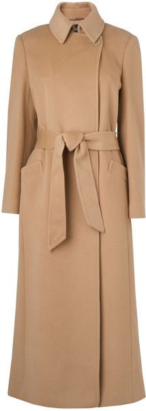 JAEGAR Anouk Long Belted Button To Neck Coat - Lyst