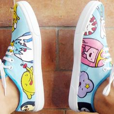 My DIY Adventure Time shoes! Click the image for the full tutorial! :)