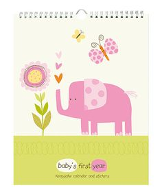 Take a look at the pepper pot Pink Jungle Friends 'Baby's First Year' Calendar on #zulily today!