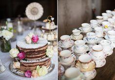 © Andrea Kiesendahl Naked Cake, Vintage Porzellan, Lieschen und Ruth