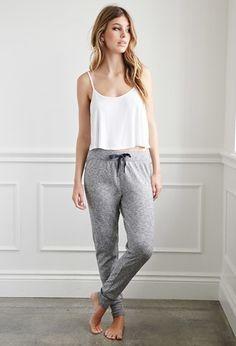 Heathered PJ Pants | Forever 21 - 2000184749 Lingerie, Sleepwear & Loungewear - http://amzn.to/2ij6tqw