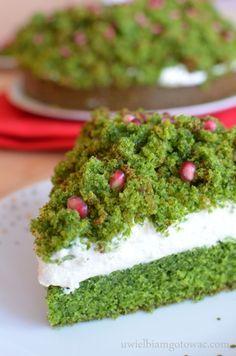 Leśny mech (Ciasto ze szpinakiem i granatem) Different Cakes, Types Of Cakes, Snacks Für Party, Piece Of Cakes, Fun Desserts, Cake Cookies, Finger Foods, Avocado Toast, Cake Recipes