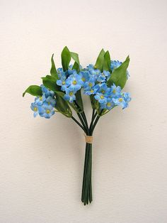 Small Artificial Forget-Me-Not Bundle