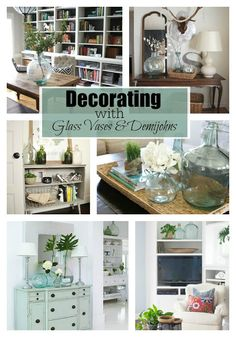 Decorating with glass vases and demijohns