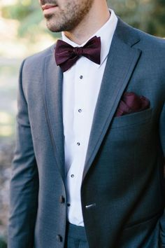 Image result for burgundy bow tie suit