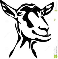 Photo about Stylized head of goat - black and white illustration. Illustration of farm, mammal, head - 34466251 Goat Paintings, Goat Logo, Goat Art, Barn Animals, Cute Goats, Pumpkin Carving Patterns, Scrap Metal Art, Black And White Illustration, Silhouette Cameo Projects