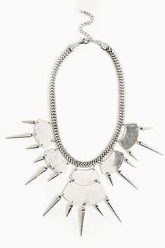 Silver Plated Spike Necklace