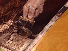 How to apply false graining to metal. Uses a graining tool, and gel stain