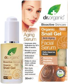 Organic Snail Gel, Facial Serum 30 ml