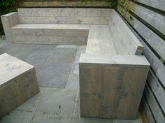 steigerhout loungebank greywash
