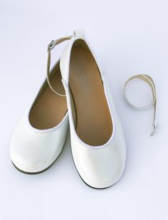 Girls White Two Way Leather Shoe