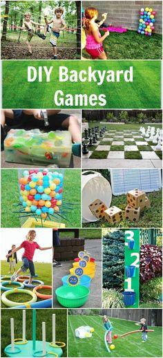 DIY Backyard Games. Fun ideas for your summer parties.