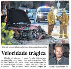Acidente de Paul Walker é flagrado por câmera de segurança http://newsevoce.com.br/?p=7396