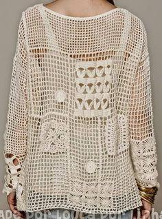 patchwork crochet shirt. Viva vida