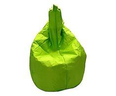 Poltrona a sacco in nylon Miranda verde - 80x120x80 cm
