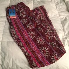 "New Bohemian Paisley Bell Bottom Pants W/ Shorts These are sheer pants with shorts built in under that are dark purple. The Seam of the shorts is 11"" and the pants are 42"". 100% polyester new with tag 29.00 price tag. The tag says medium, but I'd say it's more of a small. Ships from San Diego: I ship same day early in the day or first thing the following morning! Dreamgirls Shorts"