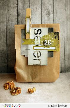 Gift paper bags by Riikka Kovasin for 7 Dots Studio