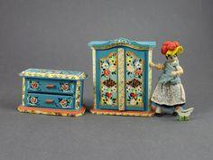 Vintage German Dora Kuhn Bavarian Dollhouse Miniature