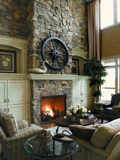 Eldorado Stone Fireplace Design Ideas, Pictures, Remodel, and Decor