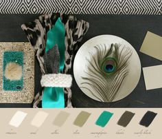 moodboard with green accent Green Accents, Mood Boards, Homework, Interior Styling, Blogging, Drawing Room Interior
