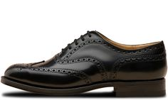 Church's triple sole-Burwood Nero Vitello lucido