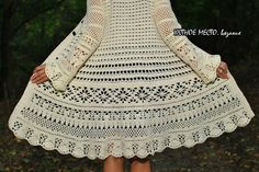 Irish lace, crochet, crochet patterns, clothing and decorations for the house, crocheted. Crochet Saco, Crochet Coat, Crochet Cardigan, Irish Crochet, Crochet Clothes, Crochet Books, Knitted Coat Pattern, Crochet Stitches, Crochet Dresses
