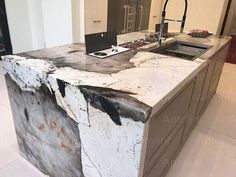 "Spectacular granite island ""Patagonia"", with big translucent quartz crystals 