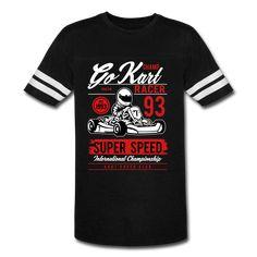 Vintage Sport T-Shirt - Go Kart Racer Go Kart Racer, Lat Apparel, Vintage Sport, Sport T Shirt, Tees, Sports, Mens Tops, Hs Sports, Chemises
