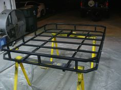 Vincent Keene uploaded this image to 'Jeep Roof Rack'. See the album on Photobucket. Truck Roof Rack, Car Roof Racks, Jeep Xj Roof Rack, Jeep Xj Mods, Jeep Wj, Truck Mods, Jeep Racks, Roof Rack Basket, Hors Route