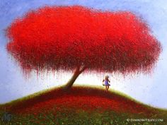 Dima Dmitriev - The Tree of Life (Painting), 160x120x2 cm, palette knife on canvas.