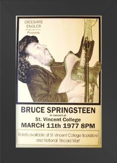 11x17 FRAMED Poster Print CONCERT Bruce Springsteen In Concert at St. Vincent College Innerwallz http://www.amazon.com/dp/B008B9XFVS/ref=cm_sw_r_pi_dp_gThPtb199YCZ5485